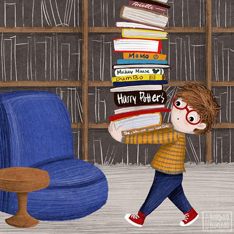 Daniel macht sich auf die Suche,<br/>nach seinem neuen Lieblingsbuche.<br/>Vielleicht dauert´s die ganze Nacht,<br/>doch beim Lesen sein Herz lacht.