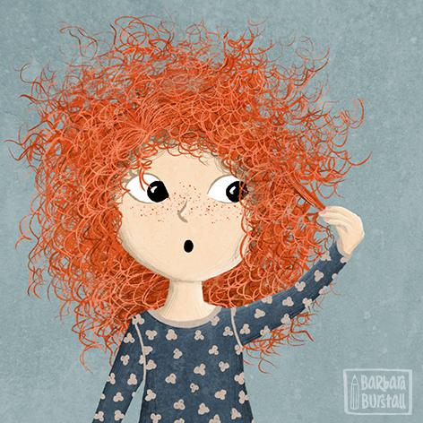 Doch auch nach 2 langen Stunden<br/>sind ihre Haare ungebunden.