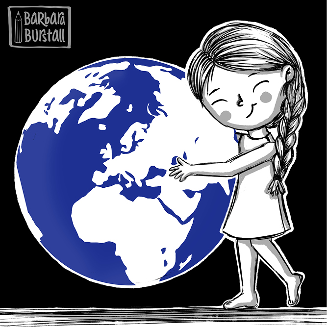 Friendly Janet<br/>loves this planet.<br/>You beauty in blue<br/>this hug is for you.